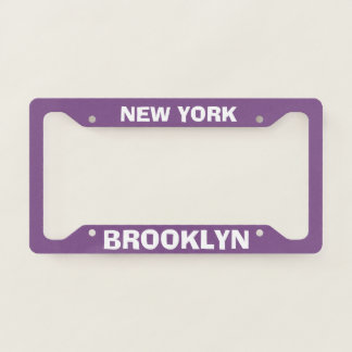 License Plate Frame Brooklyn New York