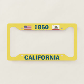 License Plate Frame California