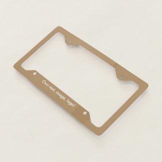 License Plate Frame uni Gold