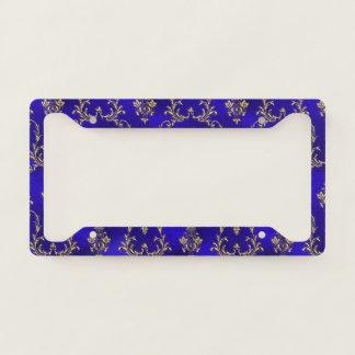 License Plate Holder--Blue & Gold License Plate Frame