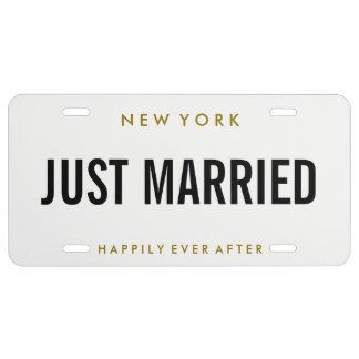License Plate - Just Married