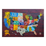 License Plate Map of the United States 2012 Ed. 1 Poster