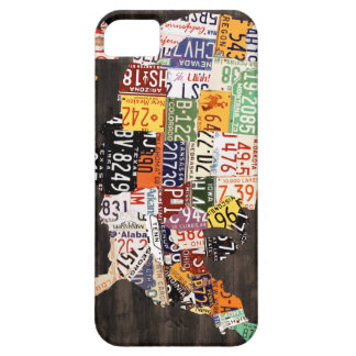 License Plate Map of the USA - Warm Colors / Black iPhone 5 Case