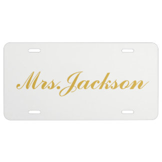 License Plate - Mrs. Gold