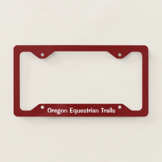 License plate surround with logo license plate frame
