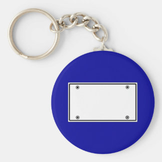 License plate template keychain