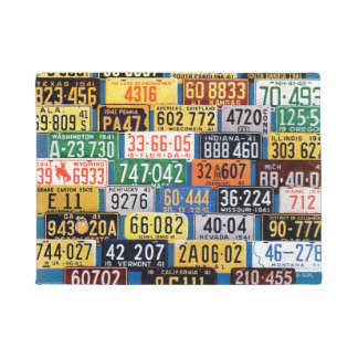 License Plates by H. Wilson Smith Doormat