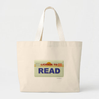 License To Read Large Tote Bag