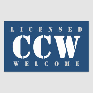 Licensed CCW Welcome Sticker