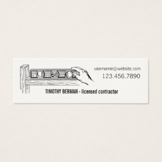 Licensed Contractor Business Card Template
