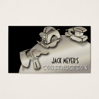 Licensed Contractor Construction Business Tools Business Card