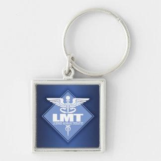 Licensed Massage Therapist Silver-Colored Square Keychain
