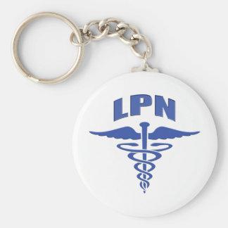 Licensed Practical Nurse Caduceus Keychain