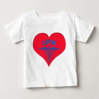 Licensed Practical Nurse LPN Caduceus Heart Baby T-Shirt