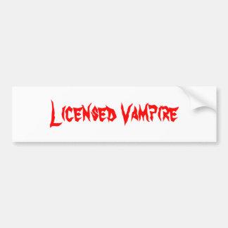 Licensed Vampire Bumper Sticker