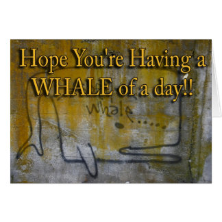 lichen grafitti whale card