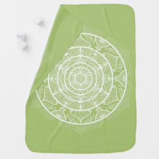 Lichen Mandala Baby Blanket