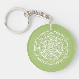 Lichen Mandala Keychain