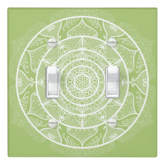 Lichen Mandala Light Switch Cover