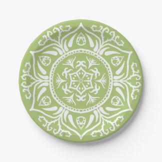Lichen Mandala Paper Plate