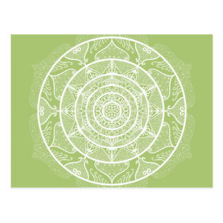 Lichen Mandala Postcard