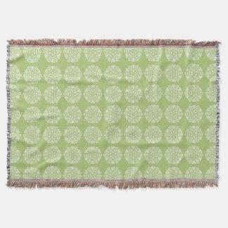 Lichen Mandala Throw Blanket