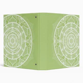Lichen Mandala Vinyl Binder