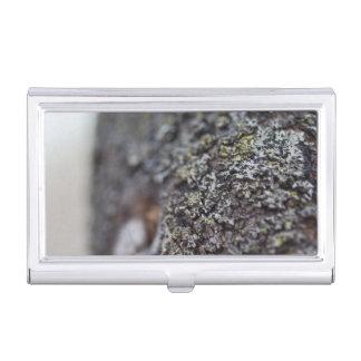 Lichen on Bark Business Card Holder