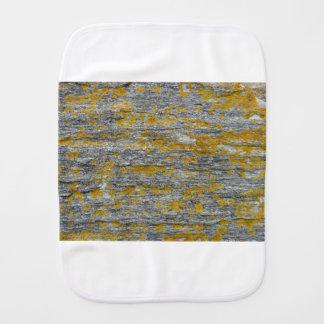 Lichens on granite stone burp cloth
