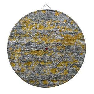 Lichens on granite stone dartboard