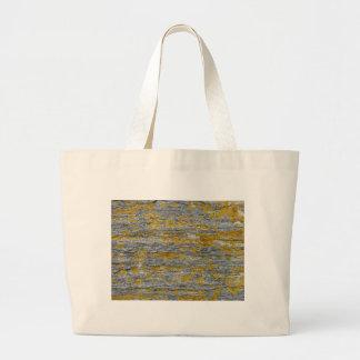 Lichens on granite stone large tote bag