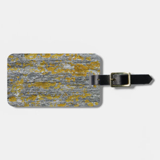 Lichens on granite stone luggage tag