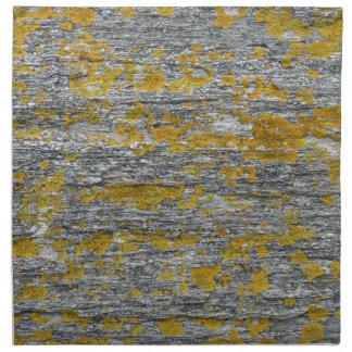 lichens on granite stone napkin