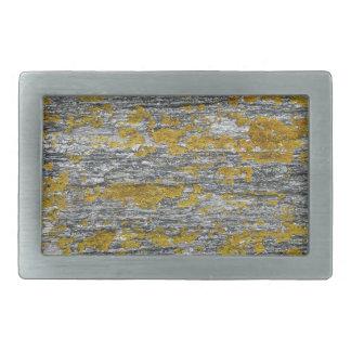 Lichens on granite stone rectangular belt buckles