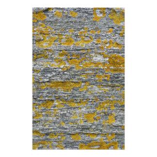 Lichens on granite stone stationery