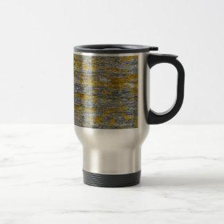 Lichens on granite stone travel mug