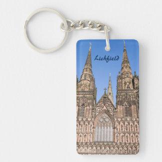 Lichfield Cathedral, Staffordshire souvenir photo Keychain