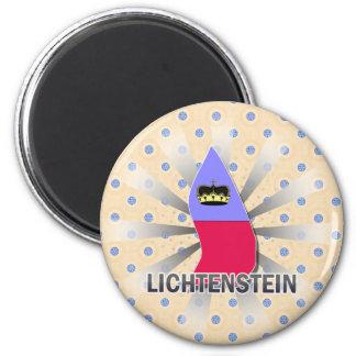 Lichtenstein Flag Map 2.0 Magnet