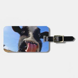 Lickin' cow luggage tag