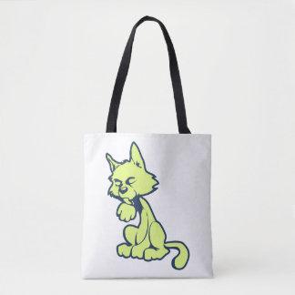 Licking Cat Tote Bag