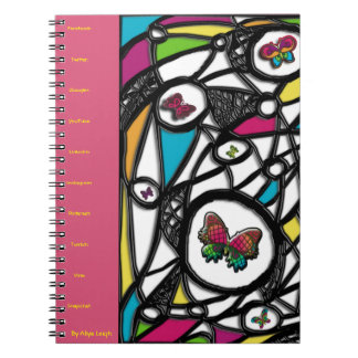 Licking Social Butterfly  By Aliya Leigh Note Book