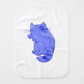 licking tabby cat sweet cartoon burp cloth