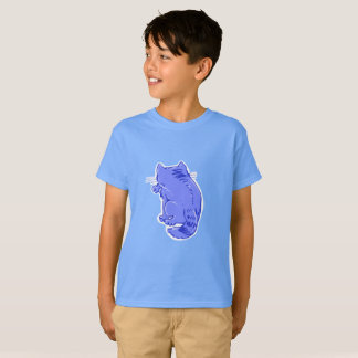 licking tabby cat sweet cartoon T-Shirt