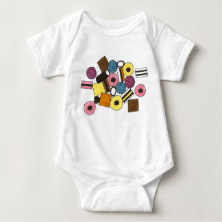 Licorice All Sorts Allsorts Liquorice Candy Sweets Baby Bodysuit