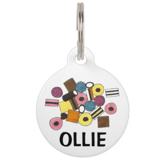 Licorice Allsorts All Sorts Candy Pet Dog Tag