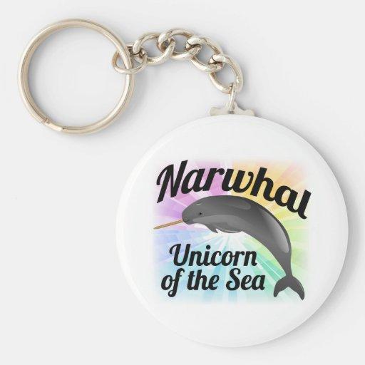 Licorne de Narwhal de la mer, arc-en-ciel mignon Porte-clé