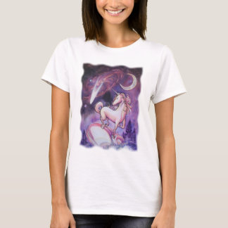Licorne et le ciel nocturne t-shirt