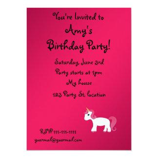 Licorne mignonne invitations personnalisées