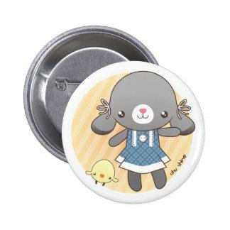 Lidia: The Bunny Amigurumi 2 Inch Round Button
