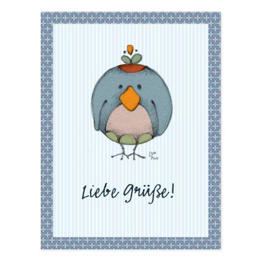 Liebe Grüße! Postcard